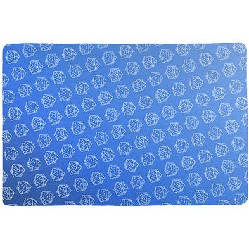 D20 Gamer Critical Hit and Fumble Blue Pattern All Over Game Dice Mat