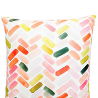 Herringbone Brushstroke Pillow