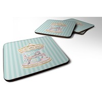 Carousel Foam Coaster Set of 4 BB6857FC