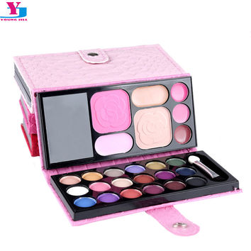2016 New Makeup Set Eyehsadow Palette Blush Brow Powder Cosmetic Sets Professionales Matte Lip Stick Foundation Make Up Sombra