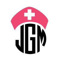 Nurse Monogram Car Decal Sticker