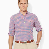 Polo Ralph Lauren Checked Poplin Shirt - Royal/Sky