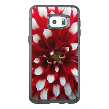Red and White Dahlia Floral OtterBox Samsung Galaxy S6 Edge Plus Case