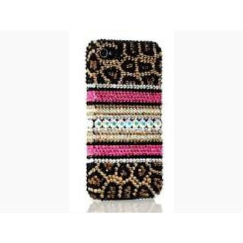 Swarovski Leopard Bling iPhone 5/5s Or Samsung Galaxy Crystal Case Made With Swarovski Elements Crystals - Bling iPhone case