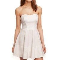 COTTON SATEEN TUBE DRESS