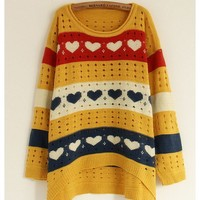 *Free Shipping* Yellow Sweater Cardigans One Size