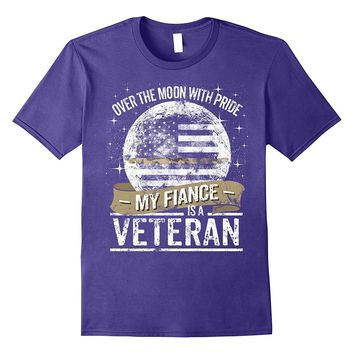 Veteran Fiance Support Thin Camo Line Military Tee Shirt