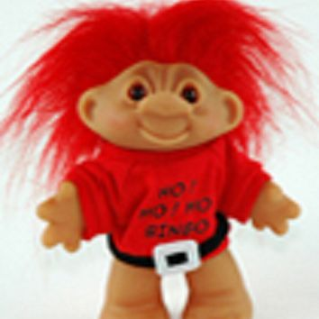 Lucky Santa Bingo Troll Doll Holiday Red Hair ~ Just a Lucky Guy~ 5""