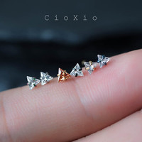 nose ring nose piercing nose stud nose jewelry triangle zircon 20g bone post