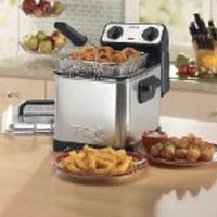 2.6-Pound, Silver-T-fal FR4049 Family Pro 3-Liter Deep Fryer with Stainless Steel Waffle