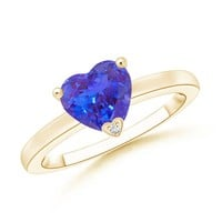 Solitaire Heart Shaped Tanzanite Promise Ring