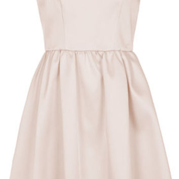 PETITE EXCLUSIVE Satin Prom Dress - Pink