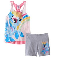 My Little Pony Rainbow Dash Racerback Tank & Biker Shorts Set - Girls 4-6x, Size: