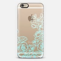 ombre roses (aqua) iPhone 6 case by Chelsea Peters | Casetify