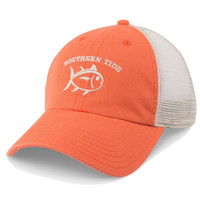 Washed Skipjack Trucker Hat in Orange by Southern Tide