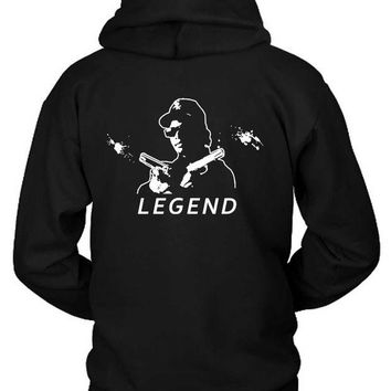 DCCKL83 Eazy E The Legend Pistols Hoodie Two Sided
