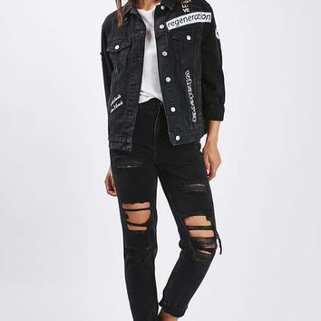 MOTO Black Badge Denim Jacket