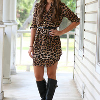 Safari Leopard Shirt Dress | Hazel & Olive