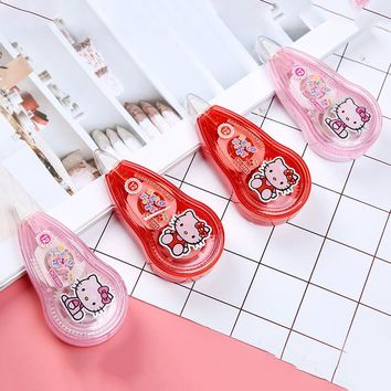 P19 Kawaii Adorable Hello Kitty Correction Tape School Office Supply Student Stationery Corrective Eraser Papeleria Kids Gift