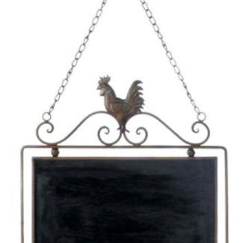 Cast Iron Rooster Chalkboard Wall Decor