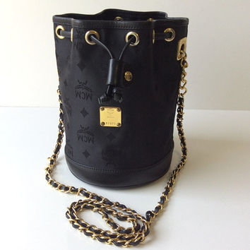 Vintage MCM Bucket Chain Cross Body Bag