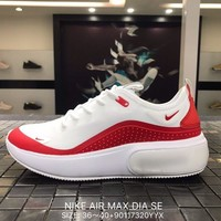 NIKE AIR MAX DIA SE Mesh white&red Sports Running Shoes AR7410 Best Goods