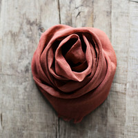 Linen Scarf / Colar Orange Colour/ / Unisex Scarf