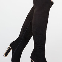 Frame Me Faux Suede Thigh-High Boots