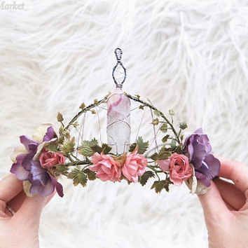 Goddess Crystal Crown | Flourite | One of a Kind - OOAK