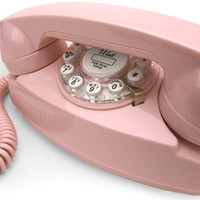 Crosley Pink Princess Desk Phone | Retro Phones | RetroPlanet.com
