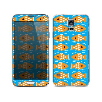 The Seamless Vector Gold Fish Skin For the Samsung Galaxy S5