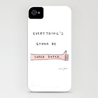 everything's gonna be super duper iPhone Case by Marc Johns   Society6