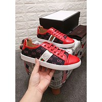 GUCCI Newest Trending Men Stylish Casual Flat Sport Shoe Sneakers Red I-OMDP-GD