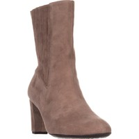 Aerosoles Fifth Ave Mid Calf Boots, Taupe Suede, 8 US