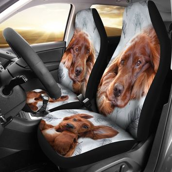 Irish Setter Dog Print Car Seat Covers-Free Shipping