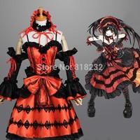 DATE A LIVE Tokisaki Kurumi Formal Dress Uniform Outfit Anime Cosplay Costumes