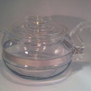 Teapot, PYREX Glass  Flameware Teapot, Excellent Condition