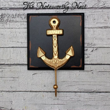 Large Anchor hooks / Cast Iron anchor hook / bathroom decor // nautical decor // boys bedroom // sailor decor // beach decor // boat anchor