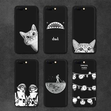 IIOZO Case For iphone 6 6S plus Cute Cat Space Moon Cat Man Pandas Shark Animal Phone Protector Cover Shell for iphone 6 Case