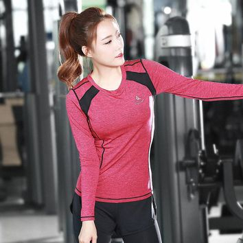 Yoga Shirts Ladies T-shirt Running Shirt Bodybuilding Clothing Women Fitness Sports Quick Dry Tops Jogging Gym Workout Tees
