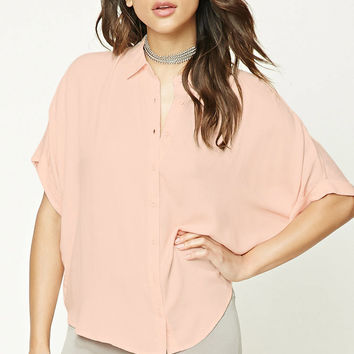 Dolman Button-Front Shirt