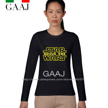 T-shirt T Shirt Women Femme Star Wars Plus Size Ladies Long Sleeve Couple High Quality Woman Casual Tee Graphic Ladies