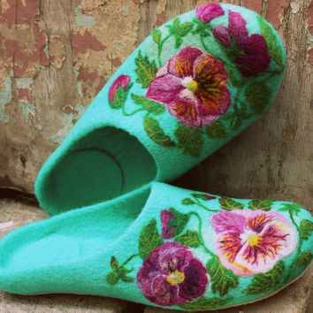 Felt Slippers for Alice, 40 size