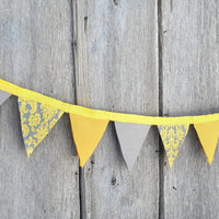 Pennant Flag Bunting, Custom Fabric Graduation Banner, Party Decor Supplies, Photo Prop Backdrop, Wedding or Birthday Decoration