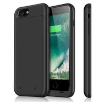 DCCKNY1 iPhone 7 Battery Case & iPhone 8 Battery Case| iPosible 4500mAh Ultra Slim Extended Battery Backup Case Charger Pack Power Bank for iPhone 7 8 (4.7inch)-Black