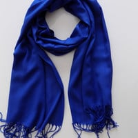 Blue Pashmina Scarf Shawl Bridesmaid Gift Women Fashion Accessories Scarves Gift Ideas For Her For Mom ,Christmas gift