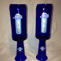 Upcycled Bud Light Platinum Wine Glasses by RandomCraftsBySundee