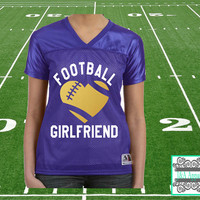 Football Girlfriend Jersey - Ladies Junior Fit Replica Football T-Shirt - Football - College - Proud Sports Girlfriend