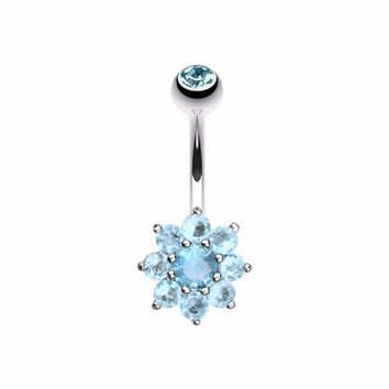 Spring Flower Belly Button Ring