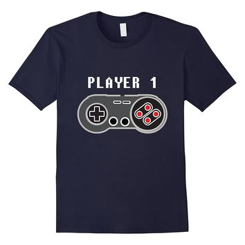 Player 1 Retro Video Game Controller T-Shirt